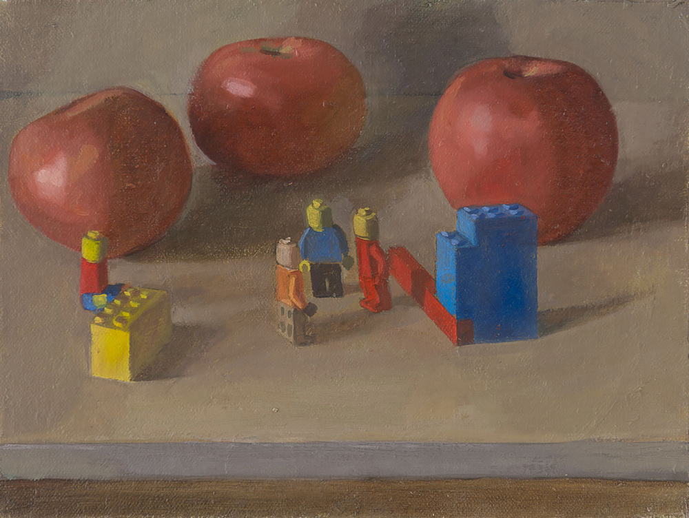"Intimate Discussions   Dimension: 10""x12""  Medium: Oil on Linen on Board  Year: 2014"