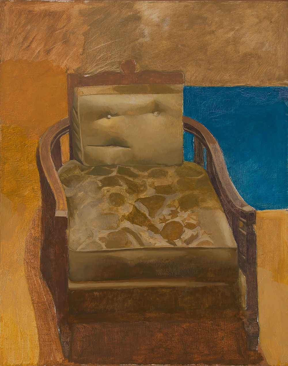 "Chair by the sea   Dimensions: 56""x42""  Medium: Oil on Linen  Year: 2010"