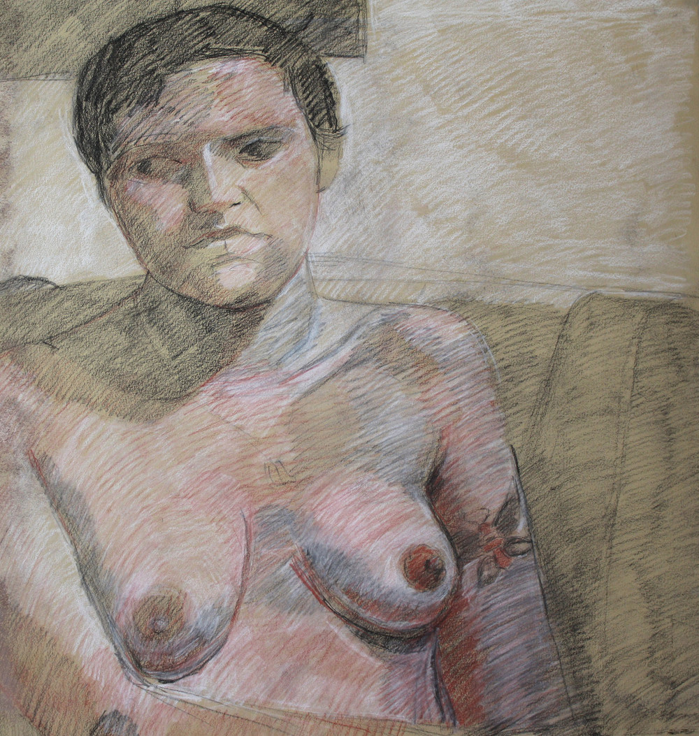 """The Poet   Dimensions: 23""""x22""""  Medium: Chalk on Paper  Year: 2006"""