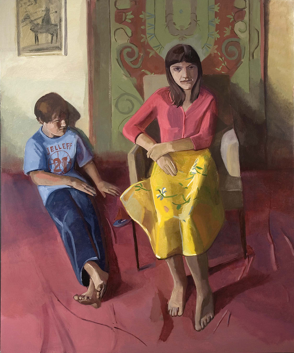 "Modern Family   Dimensions: 72""x60""  Medium: Oil on Linen  Year: 2007"