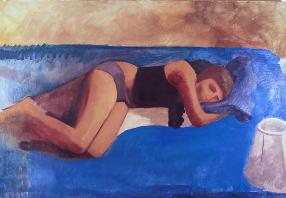 "Sleeping Cerulean   Dimensions:41""x60""  Medium: Oil on Linen  Year: 2007"