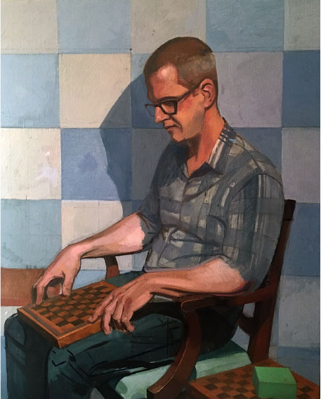 "Evan   Dimension: 45""x36""  Medium: Oil on Linen  Year: 2017"