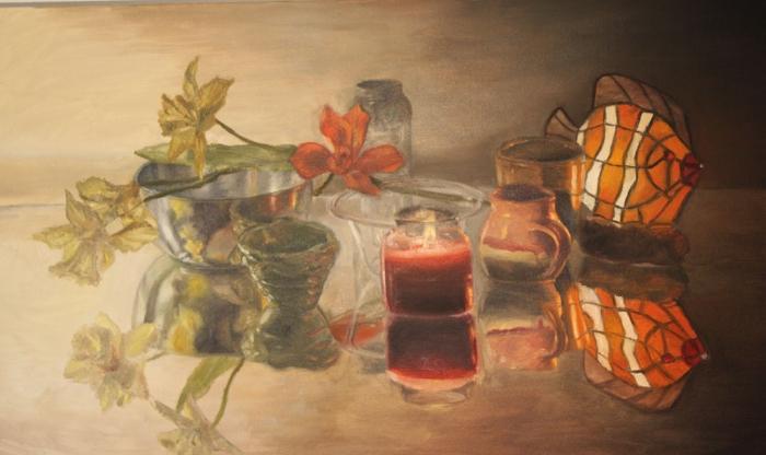 "Size: 25""x50""   Medium:  Oil on canvas  School:  Arcadia University, 2015"