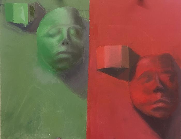 """Size: 16""""X20""""   Medium: Oil On canvas  School: Southeastern Louisiana University, 2017"""
