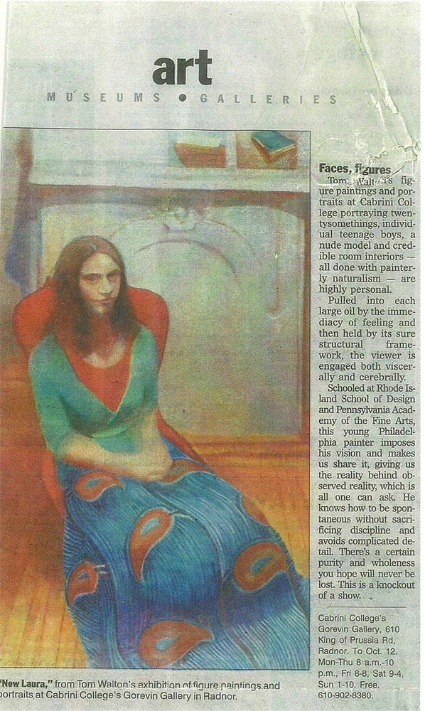 Publication:  Philadelphia Inquirer   Author  : Victoria Donohoe    Exhition:  Cabrini College Solo Show, 2008