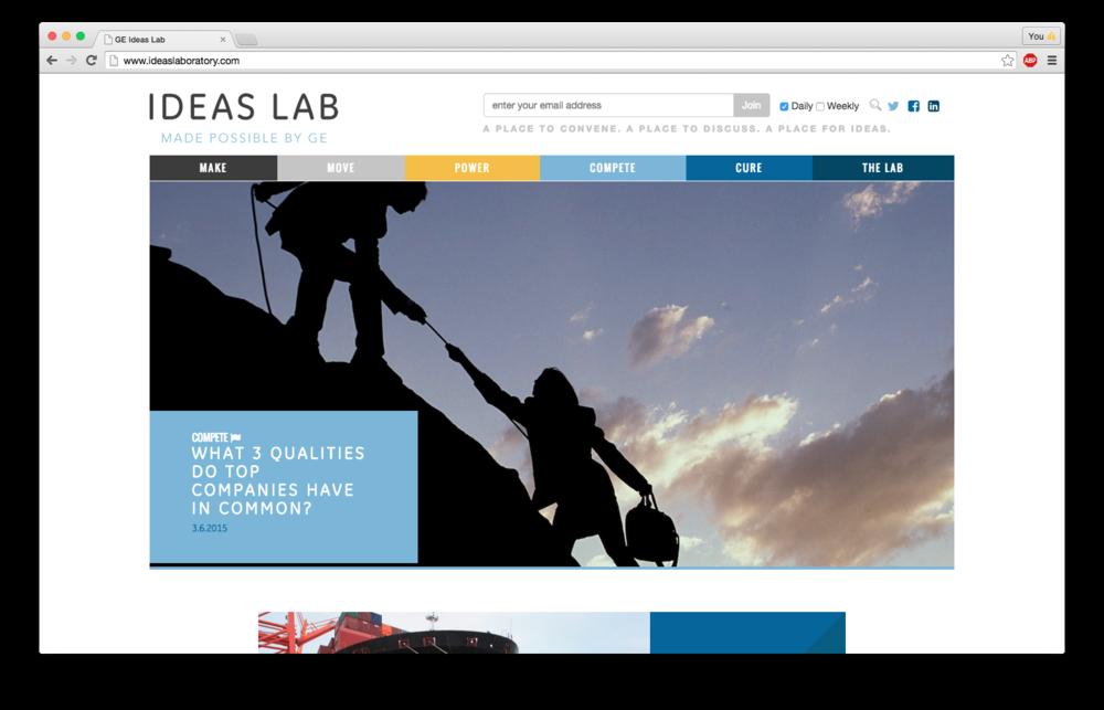 Ideas Lab, General Electric