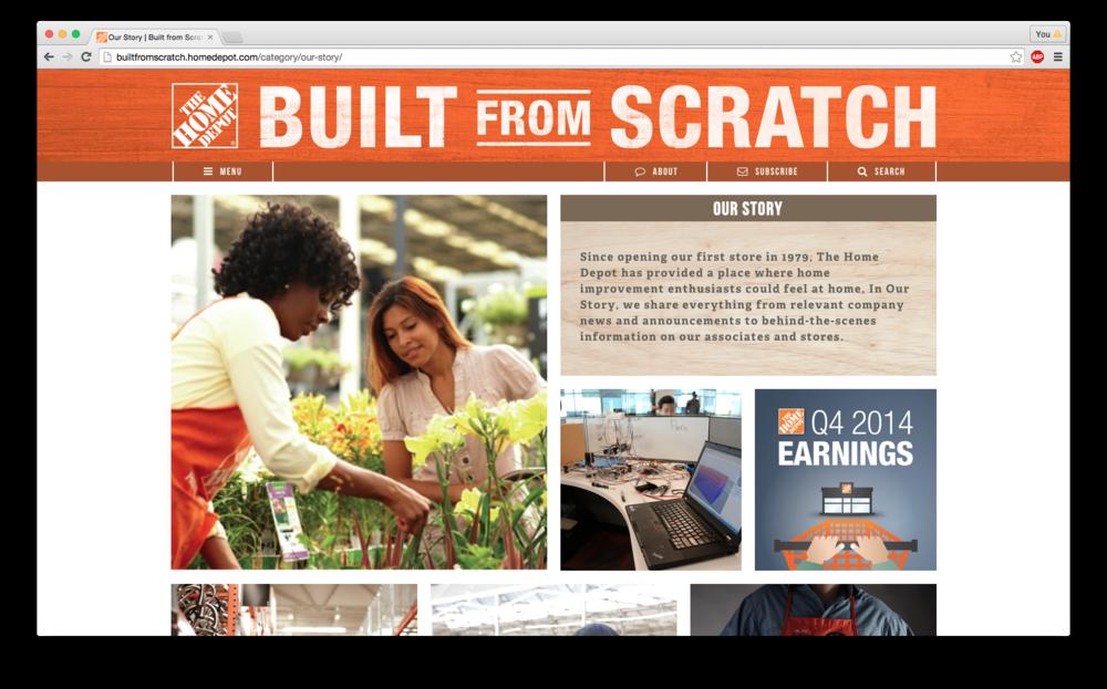 Built From Scratch, The Home Depot