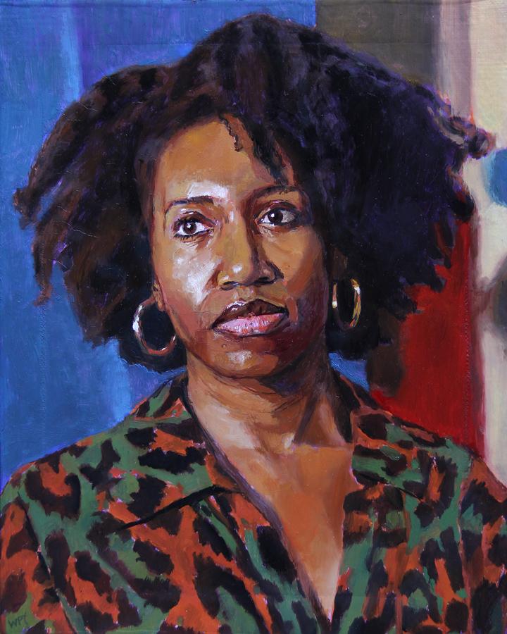 "Oil on canvas, 8"" x 10"""