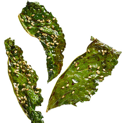 5.  Soy and Sesame Kale Chips .  See recipe here .