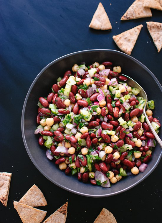 1.  Lebanese Lemon Parsley Bean Salad.  See recipe  here .