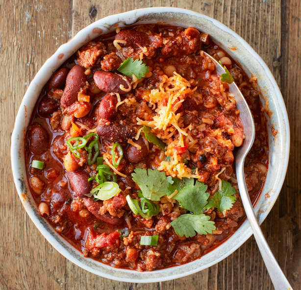 4. Chili with Chipotle and Chocolate. See recipe here.