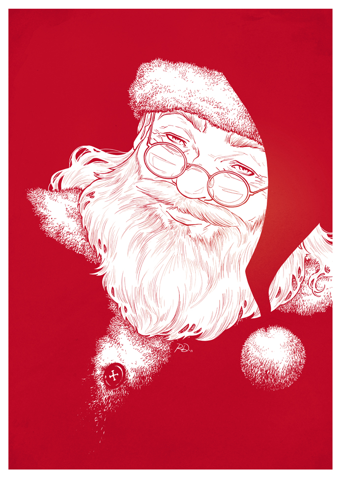 Santa Claus, digital<br>Holiday card, 2013