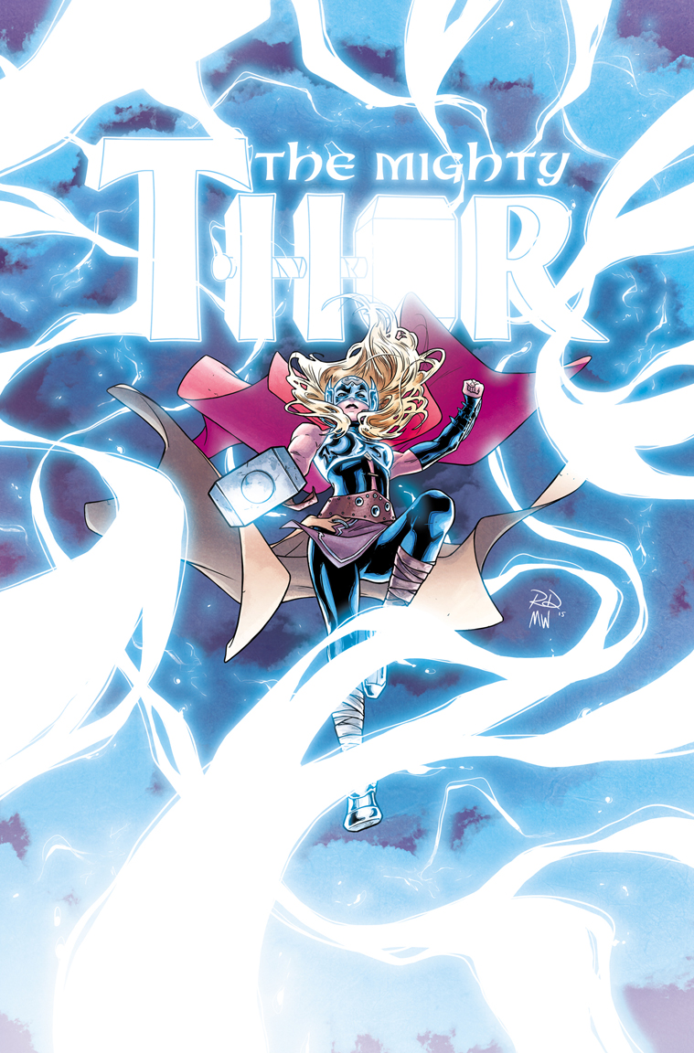 The Mighty Thor #8 cover, digital.  Color by Matt Wilson.  Marvel, 2015