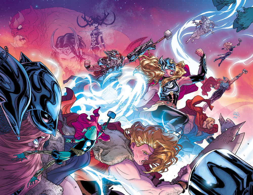 The Mighty Thor #700 cover, digital.  Color by Matt Wilson.  Marvel, 2017