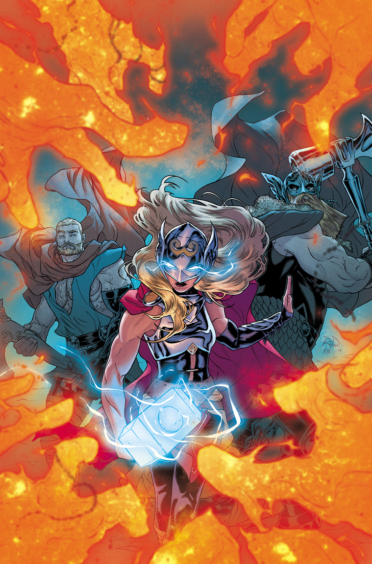 The Mighty Thor #21 cover, digital.  Color by Matt Wilson.  Marvel, 2017