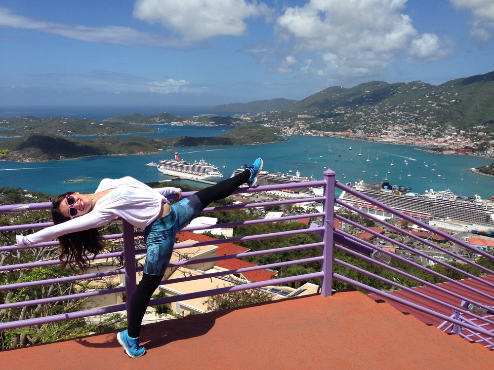 Stretching in Charlotte Amalie