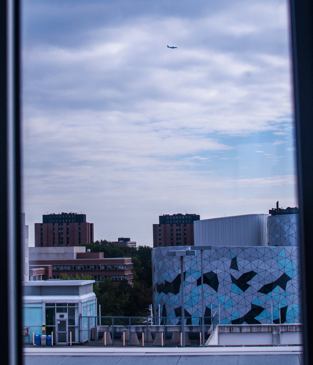 Rooftop Observatory Window View