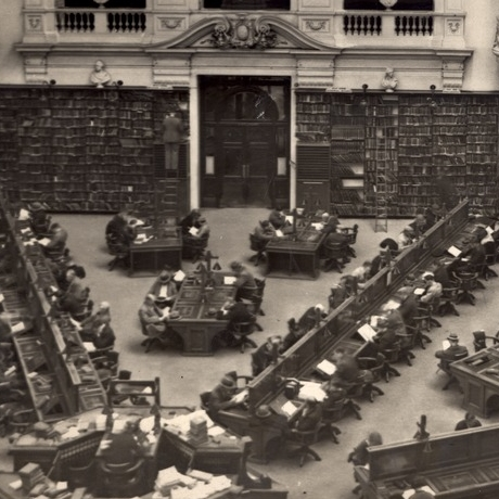State Library of Victoria Reading Room, 1913 (SLV Collection)
