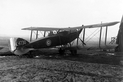 Australian Flying Corps Bristol F.2b Fighter in Palestine, 1918. The F.2b was used by both the RFC and the AFC. (Photograph courtesy Australian War Memorial.)