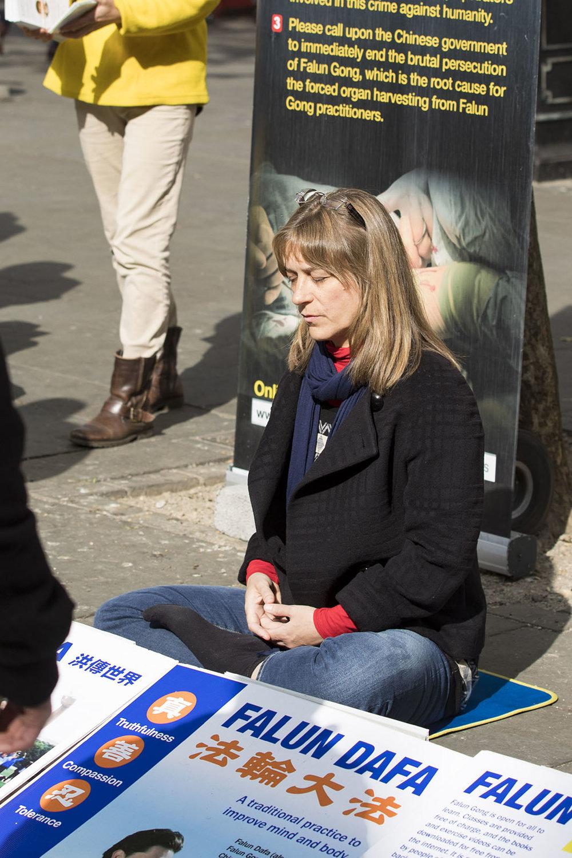 Falun Dafa aka Falun Gong tranquil sitting meditation