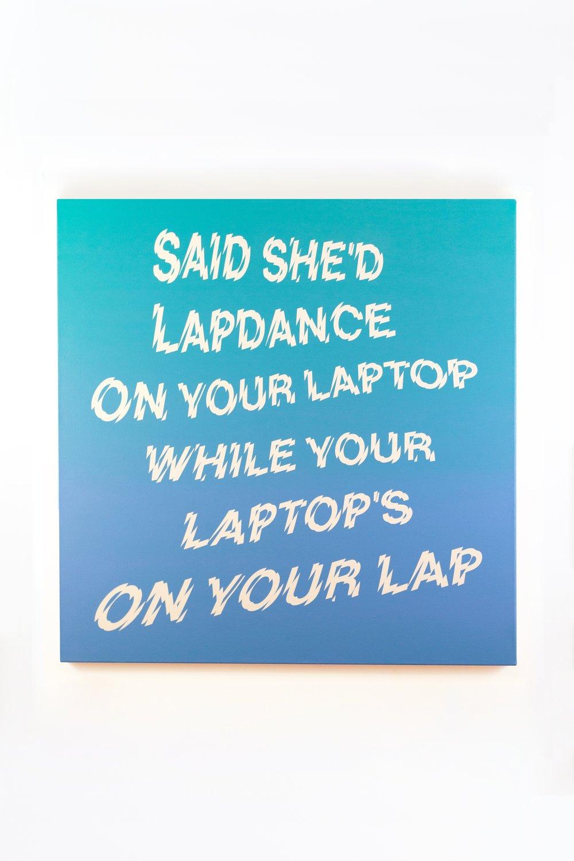 "Cyberwendy,  2015 Acrylic on Canvas 36"" x 36""  $1,500.00 (SOLD)"