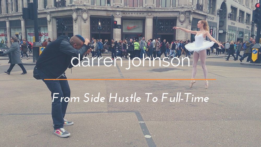 Behind the scenes photo provided by assistant Claudia White of Darren's London Street Ballerina project.