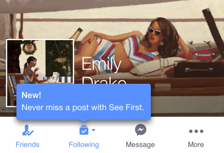 see first facebook high season social media