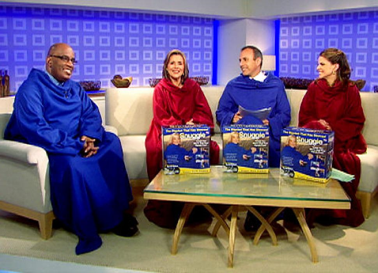 The Today Show cast wearing Snuggies. Photo credit: nydailynews.com.