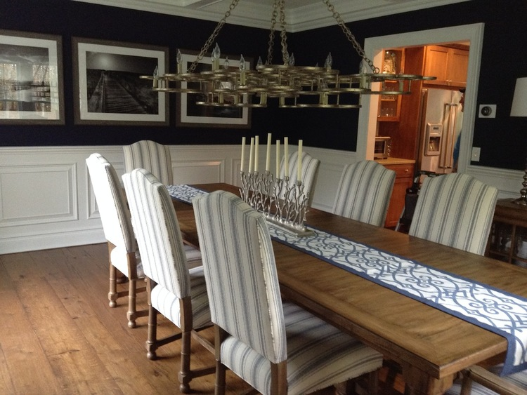 Coastal Farmhouse Dining Room Isabels Interiors