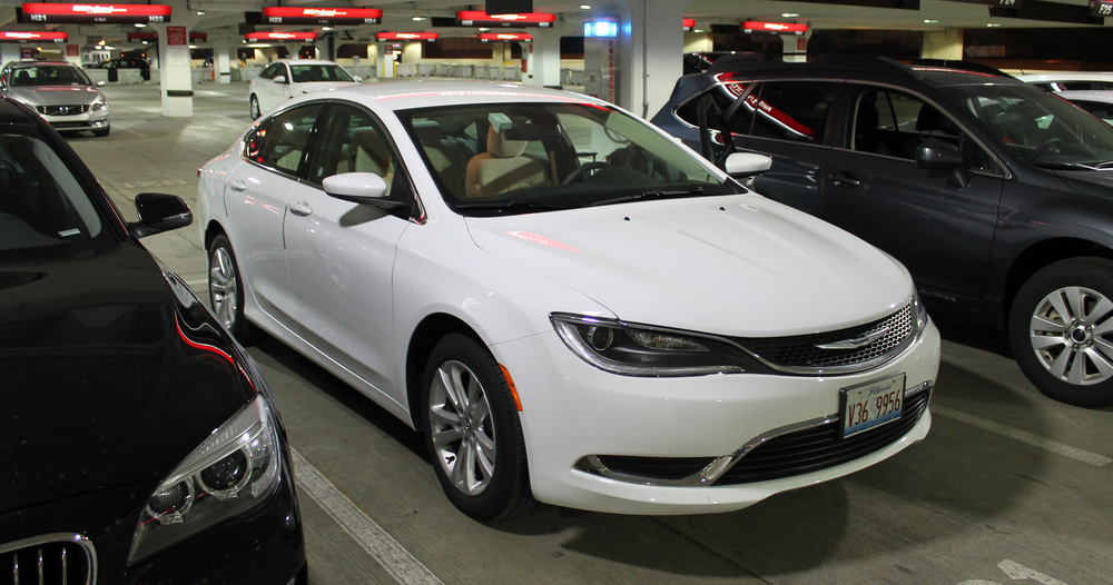 Rented a car and was upgraded to a new 2015 Chrysler 200 (push-button start, you know what it is!). This innocent-looking whip would later end the life of a drunk raccoon crossing the road.