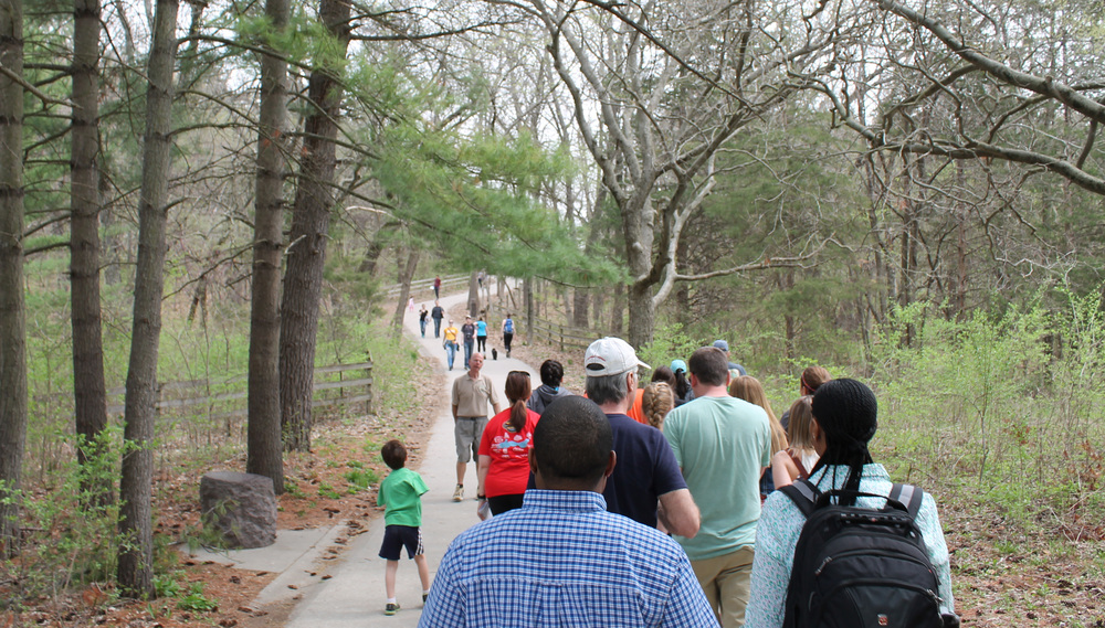 At noon there was a free hiking tour which took visitors to all the important parts of the park. The Illinois area has a lot of Native American history and our tour guide Ray knew more about it than Pocahontas and Cherokee Parks combined.