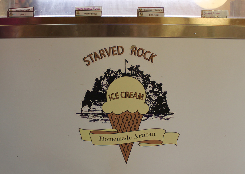 After the tour, I enjoyed some homemade artisan (ooOooh) ice cream back at the welcome center. There were only 8 flavors and Brittnay informed me that the ice cream is made at the lodge nearby. A sweet way to end my visit to Starved Rock State Park.