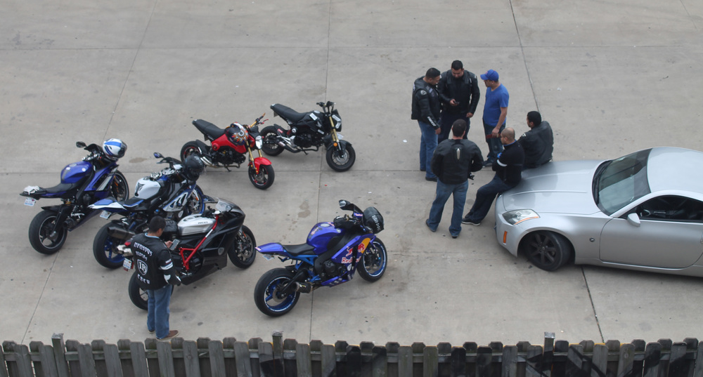 At one of the stops I witnessed a biker gang discussing the plot twists in  Furious 7 .