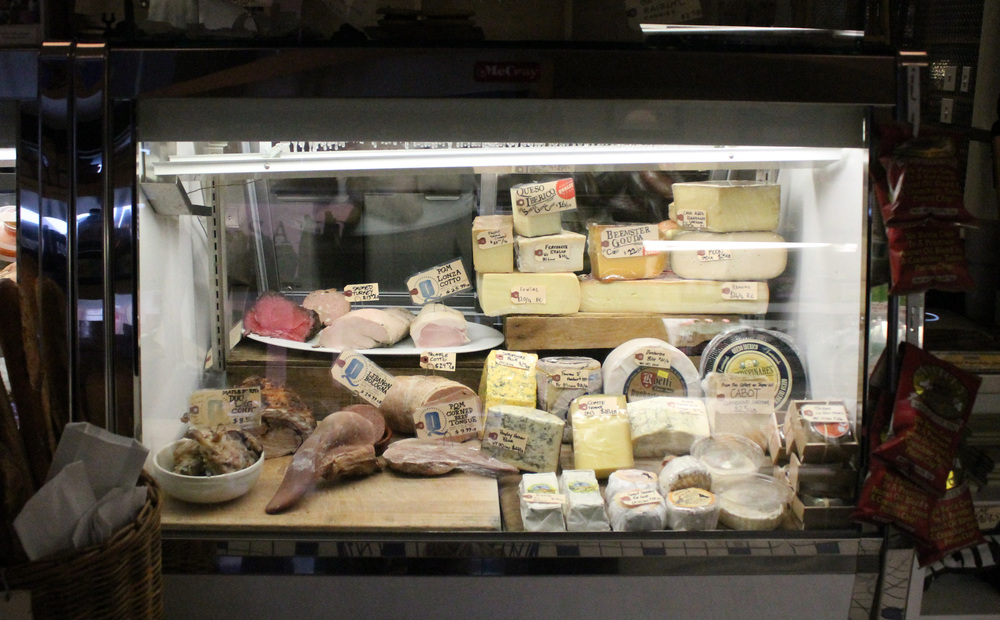 Along with their offerings of boutique ingredients, sandwiches, soups, and salads, Publican also has an exquisite variety of meats and cheeses from their butcher shop (that's a giant tongue in the lower left).