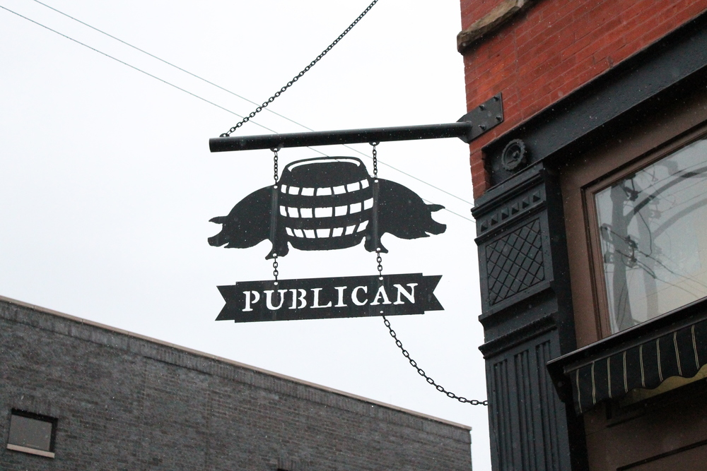 Across the street is the restaurant counterpart  Publican .