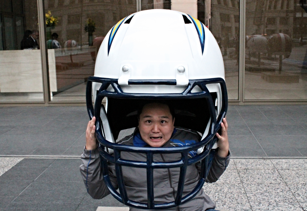 I have a fairly large head, but this helmet was still slightly too big for me.