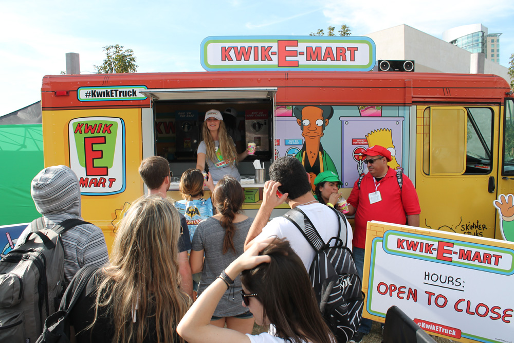 Went out back behind the convention center and scored me a free Squishee from the Kwik-E-Mart truck.