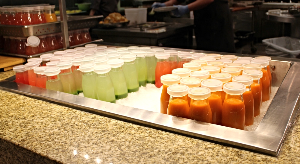 Fresh squeezed juices: watermelon, cucumber, carrot, and others. Before leaving I even snagged a horchata from here!