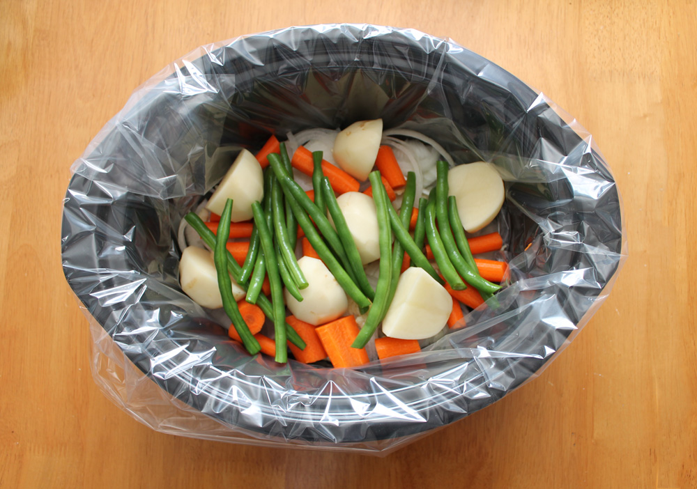 Not typical but I added potatoes, carrots, and green beans (hey, I want to grow taller).