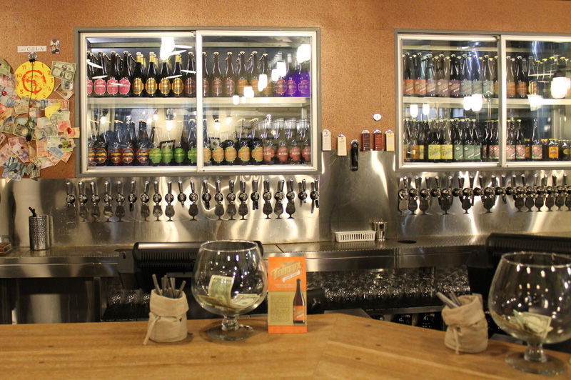 You can window shop here!! At any given time there are up to 40  beers on tap . Now onto the tour!*