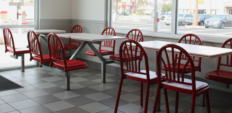"Once inside, I noticed how everything was squeaky clean. I felt lucky to take a whiff of that ""new In-N-Out smell""... which was a combination of french fries and oxygen."