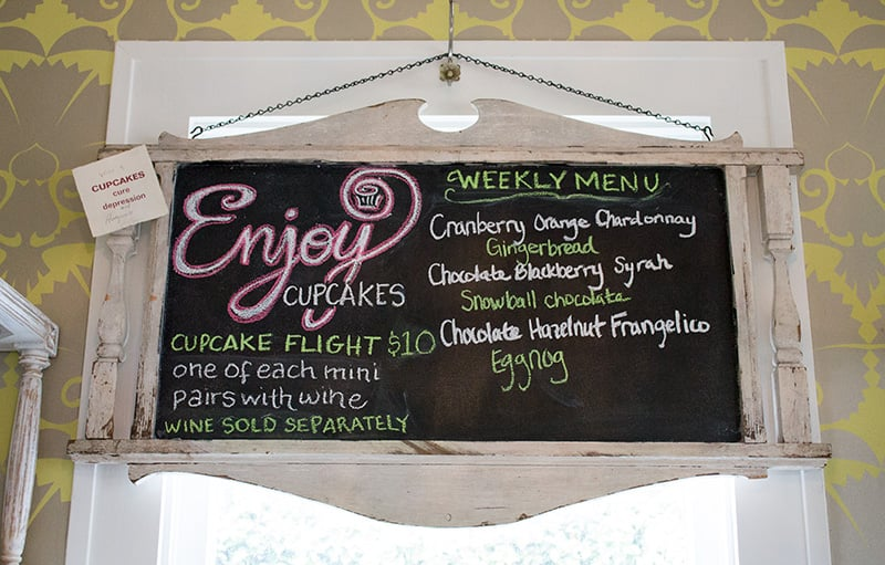 The weekly menu of cupcakes, which are baked by  Enjoy Cupcakes  in Santa Barbara.
