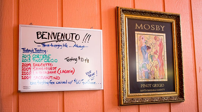 Their tasting is $10 and you get to try six kinds. It was pretty cool to find out that  Blake and Gwen visited Mosby just a few days after us.