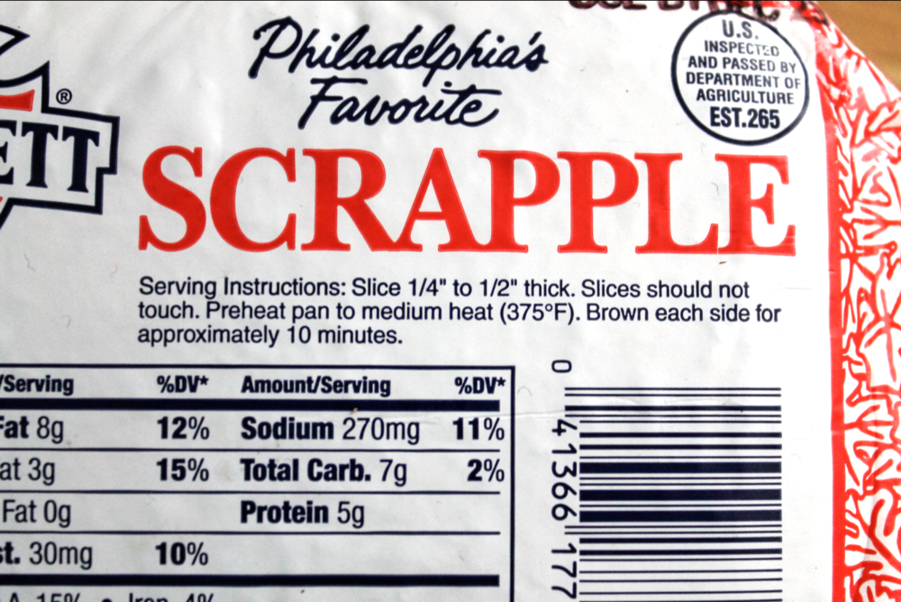 Gotta love these simple serving instructions. As you can see, patience is key when cooking up Scrapple.