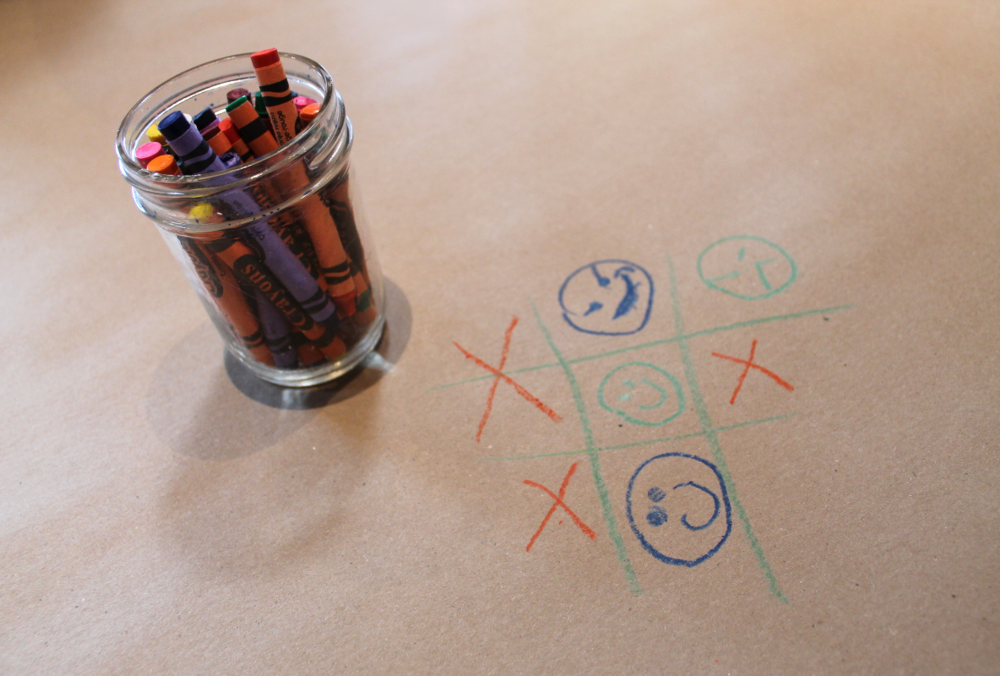 The food will be delivered to your table, twas about a 15-20 minute wait for my party of 7. In the meantime, be a kid again (or, in my case, stay a kid) and draw on the tabletops which are lined with butcher paper.