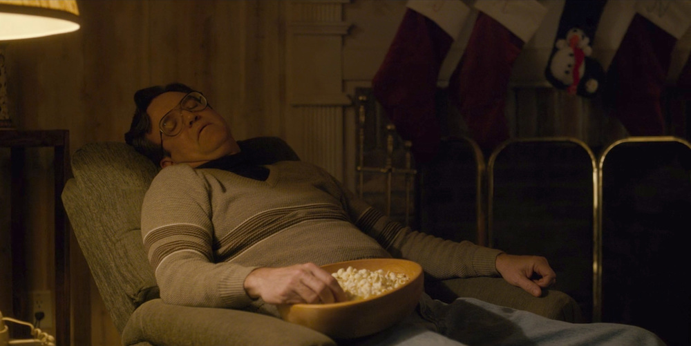 """It's Christmas, and instead of helping my wife with an overly-complex dinner, im just gonna snooze while my hand contaminates this communal bowl of popcorn. And maybe, just maybe, I'll catch a peek of my daughter making-out with her boyfriend, Julio, on the couch across the way."""