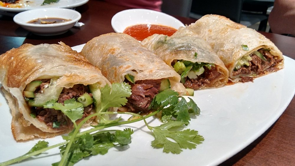 Beef Rolls  — I had actually scouted these during my first visit, then vowed to munch on these yumsters ASAP. Stuffed with oh-so-tender beef, cucumber, green onion, cilantro, and hugged in a super light and crispy wrap. Will order again.
