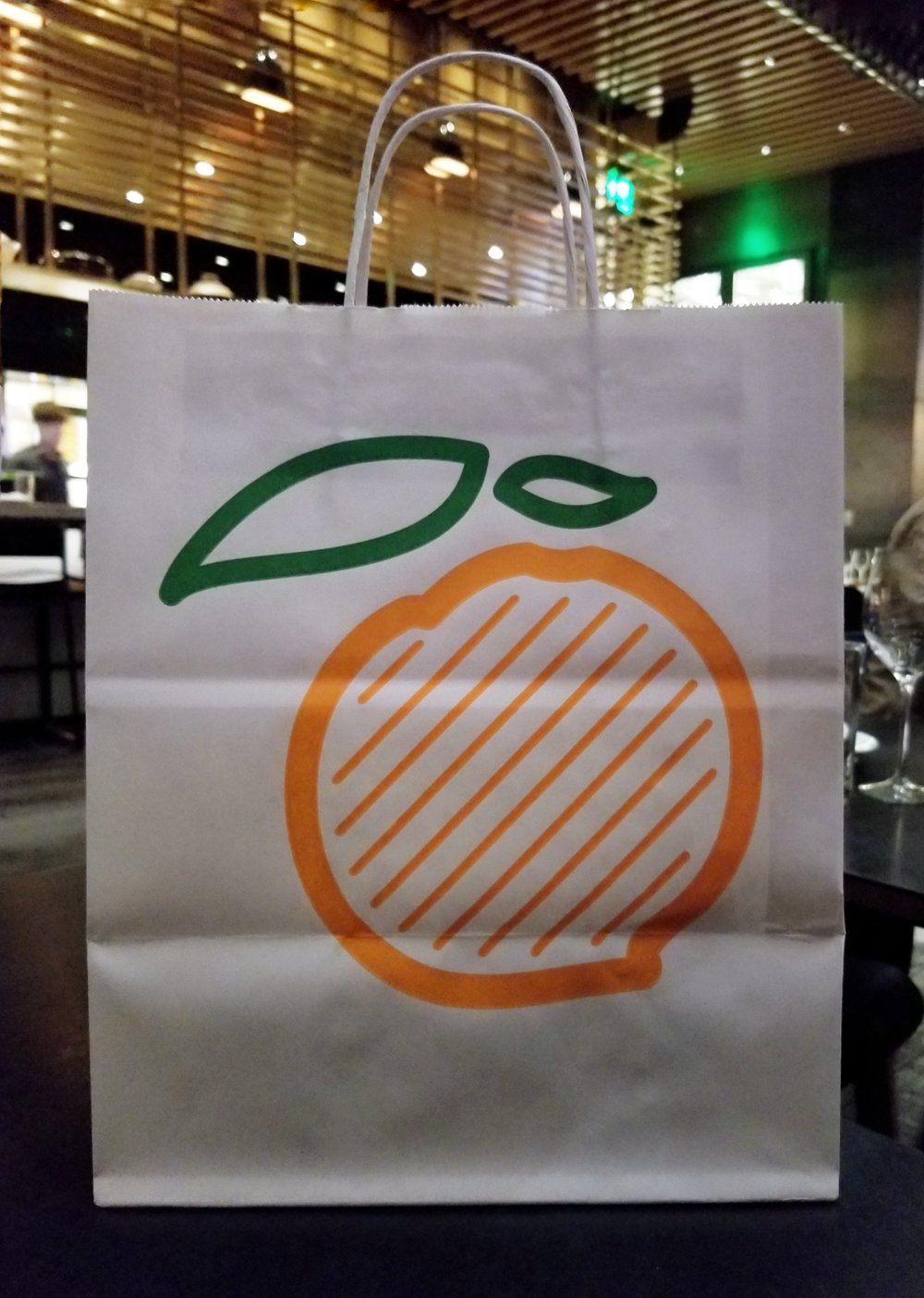 Souvenir  — I didn't get to purchase any restaurant paraphernalia, but I was happy to go home with this cheap & cute to-go bag with Momofuku's logo of a lucky peach.