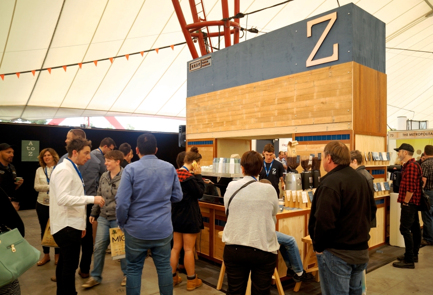 Zest Specialty Coffee MICE stand 2015