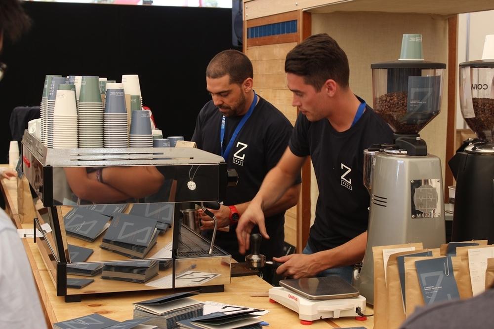 Espresso team on La Marzocco Linear PB